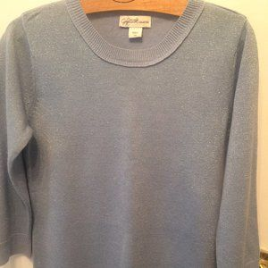 Jaclyn Smith metallic thread pullover sweater S Sm